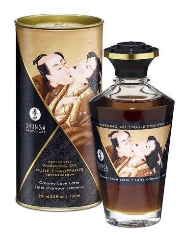 Массажное интимное масло с ароматом сливочного латте - 100 мл.