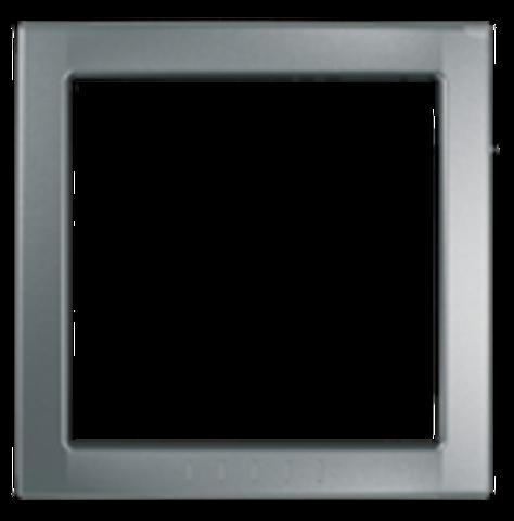 Рамка на 1 пост, декоративный элемент. Цвет Серебро. Schneider electric Unica. MGU4.000.60