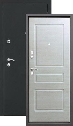 Тёплая дверь входная Алмаз Турмалин, 2 замка, 1,2 мм  металл, (чёрный шёлк+капучино)