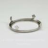 """Сеттинг - основа """"Черепашка"""" для камеи или кабошона 40х30 мм (оксид серебра)"""