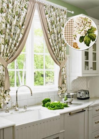 Комплект штор для кухни Лилиана с подхватами