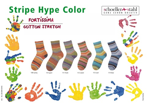 Fortissima Cotton Stretch Stripe Hype Color