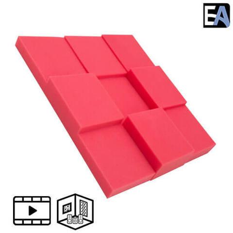 ECHO BLACK Акустический поролон Puzzle Красный