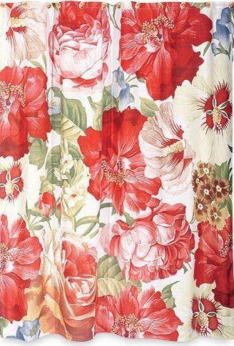 Элитная шторка для ванной Blonder Home Decoupage Rose