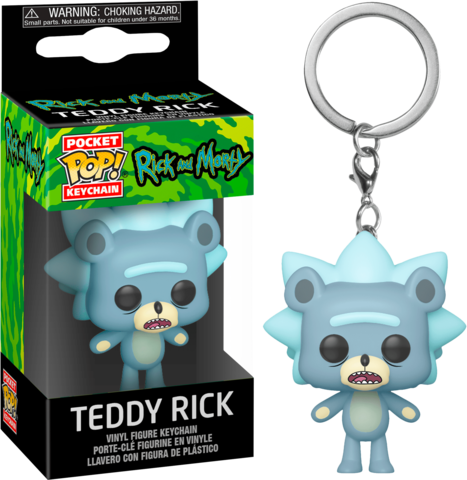Мишка Рик- Рик и Морти || POP! Keychain Teddy Rick