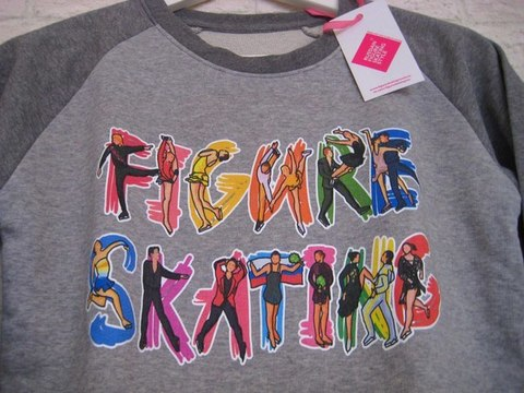 Детский свитшот ФИГУРИСТЫ (серый) на девочек и мальчиков