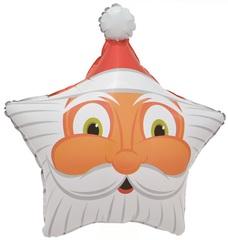 К 19''/48 см Звезда, Голова Деда Мороза, 1 шт.