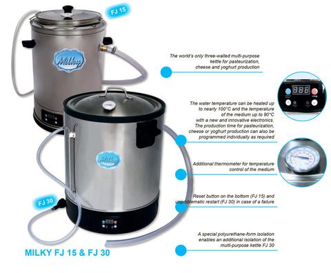 Пастеризатор молока на 30 литров с электронной панелью управления Milky FJ 30, Австрия