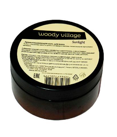 Соль для ванной Sunlight, Woody Village