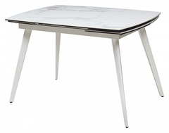 Стол ELIOT 120 Chinese Marble Ceramic+White — белый