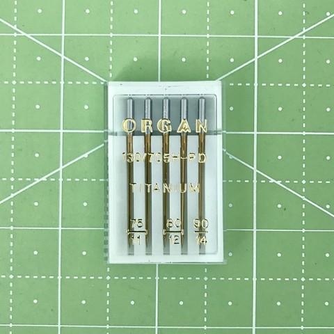 Organ иглы особо прочные с покрытием Titanium 5/75-90