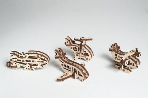 Деревянный конструктор - Фиджеты Самолеты (4 шт.) (Ugears)