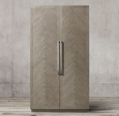 Herringbone Double-Door Cabinet