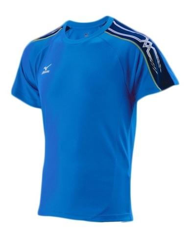 Футболка Mizuno Tee 201 blue мужская
