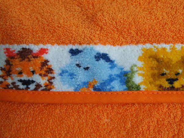 Полотенце детское 50х80 Feiler Jungle оранжевое
