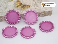 Крышки пластиковые со стразами розовые