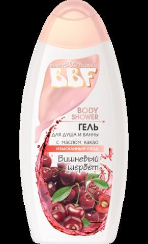Floralis BBF Гель для душа и ванны с маслом какао Вишневый щербет 350г