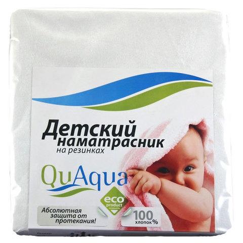 Наматрасник непромокаемый Qu Aqua с резинками на углах