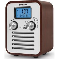 Часы с радио HYUNDAI H-1623 (тем дерево)