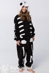 "Детская пижама-кигуруми ""Скелет"""