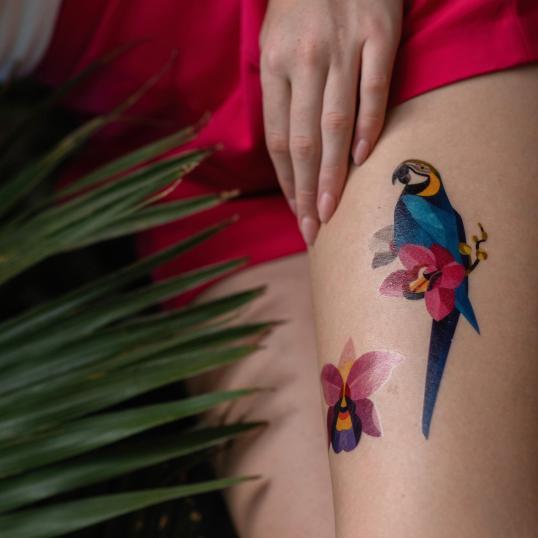 Переводная татуировка Orchid