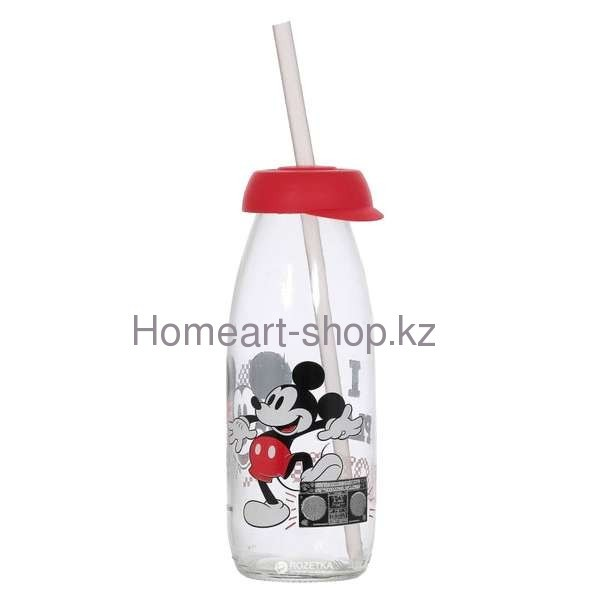 Бутылка детская с трубочкой mickey mouse 500 мл ;