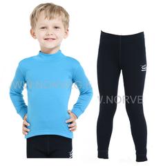 Комплект термобелья из шерсти мериноса Norveg Soft (4CSU2HL-004-4SU003-002) детский с высоким воротом