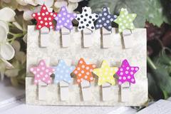Набор прищепок Stars Colors