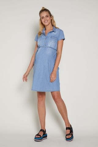 Платье для беременных 09380 голубой