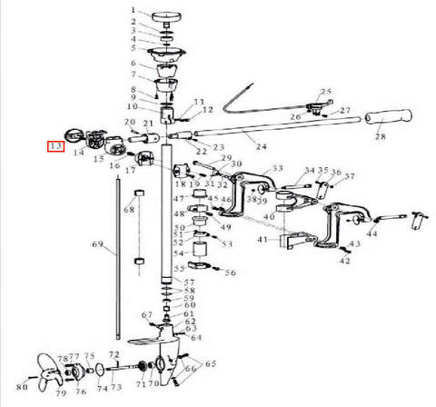 Фиксатор румпеля для лодочного мотора T3,5 Sea-PRO