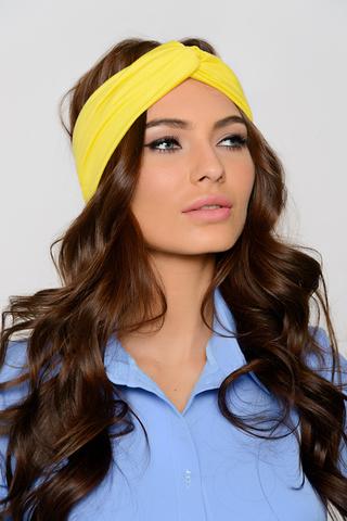 Чалма (лимон),(deni). Чалма на голове создает оригинальный образ. Сегодня все модницы стали повязывать себе голову. Чалма превратилась в актуальный аксессуар