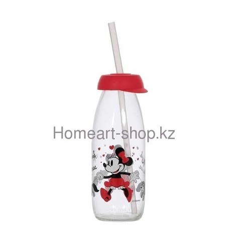Бутылка детская с трубочкой minnie mouse 500 мл ;