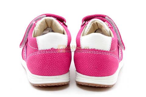 Ботинки для девочек Лель (LEL) из натуральной кожи на липучках цвет фуксия. Изображение 9 из 17.