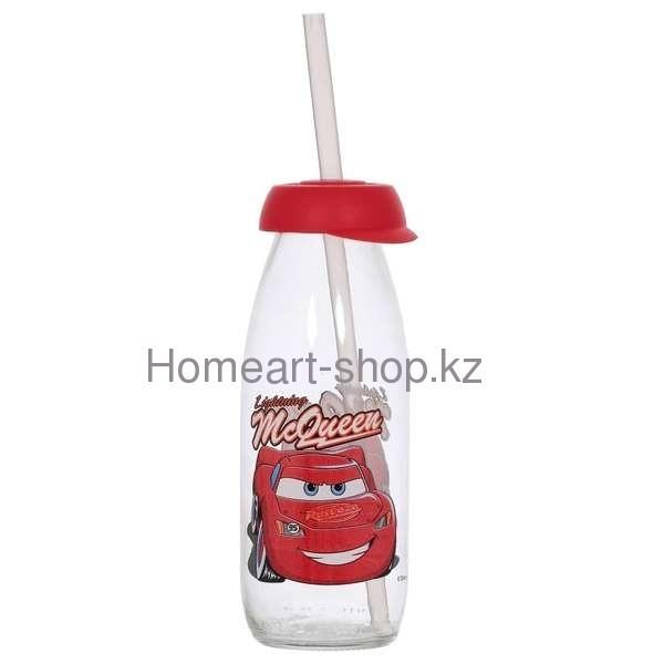 Бутылка детская с трубочкой mcqueen 500 мл ;