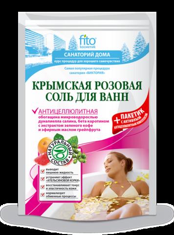 Фитокосметик Санаторий дома Соль для ванн Крымская Антицеллюлитная (500+30)мл