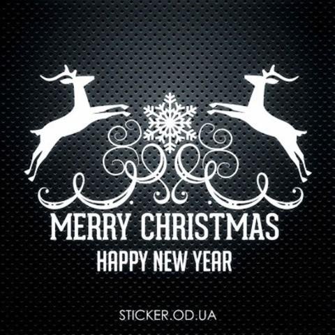 Виниловая наклейка, новогодний декор