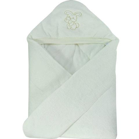 Папитто. Конверт-одеяло велюр с вышивкой, экрю