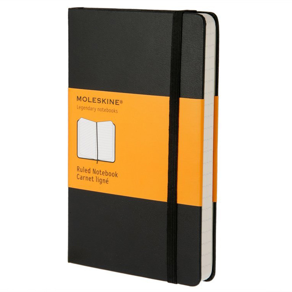 Блокнот Moleskine Classic Large, цвет черный, в линейку 385070(QP060)