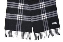 Шерстяной шарф черно-белый 30291