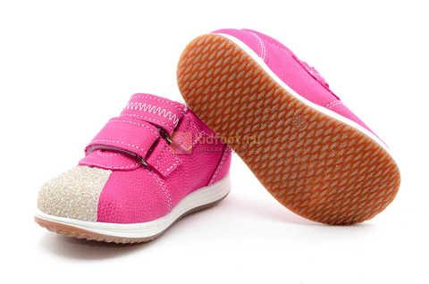 Ботинки для девочек Лель (LEL) из натуральной кожи на липучках цвет фуксия. Изображение 11 из 17.