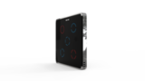 Выключатель пятиканальный Heltun (Чёрная панель, Чёрная матовая рамка)