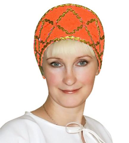 Кокошник Дарья оранжевый