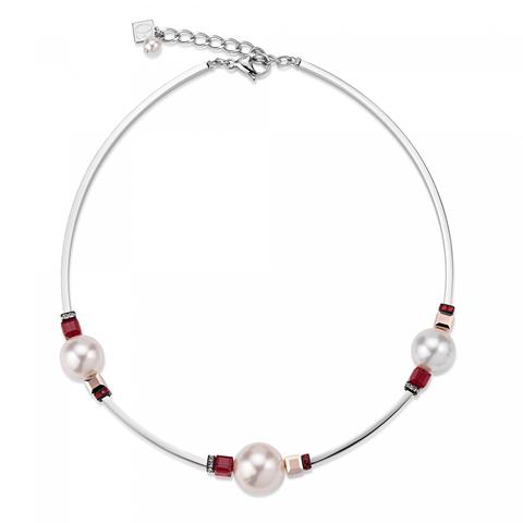 Колье Coeur de Lion 4803/10-0321 цвет белый, красный