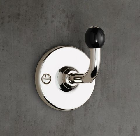 1900 Classic Single Robe Hook - Black
