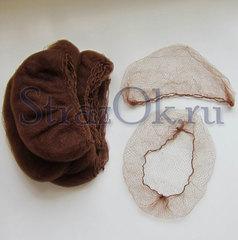 Купите коричневую сетку невидимку паутинку для волос для гимнастики и танцев