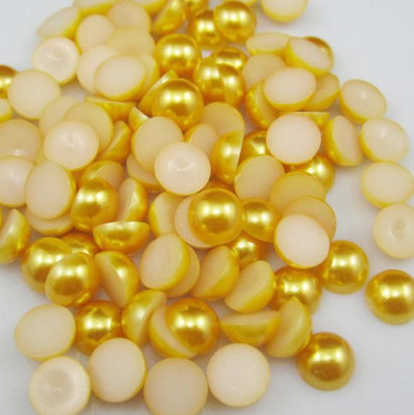 Полубусины 4 мм (набор 10 шт), золотой