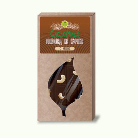 CacaoMalo шоколад из кэроба необжареного с кешью 85 г