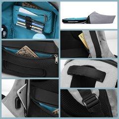 Рюкзак антивор повседневный для ноутбука 15,6 КАКА 2236 серо-чёрный