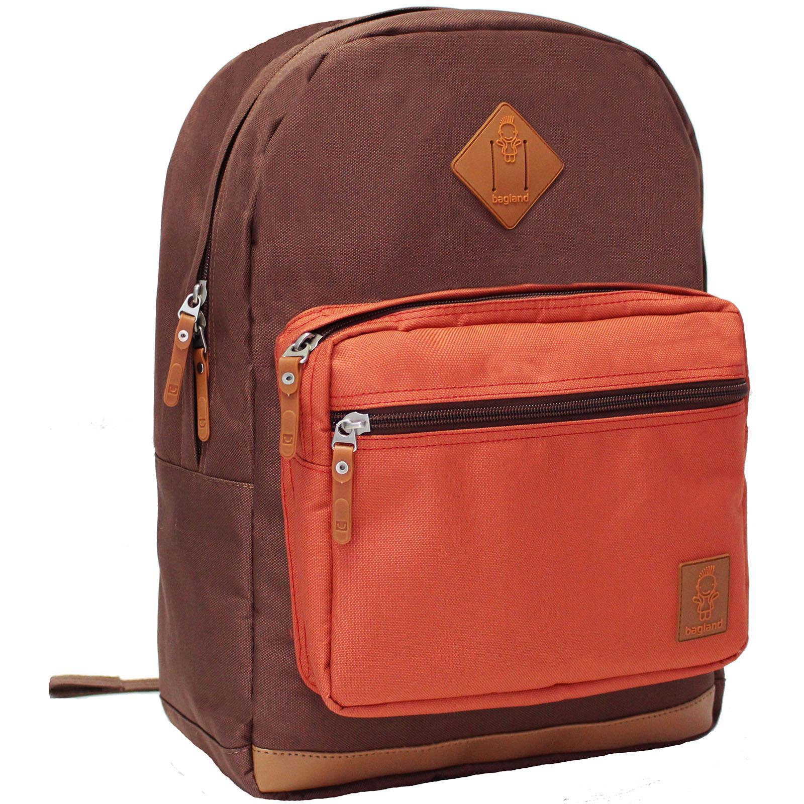 Рюкзаки для ноутбука Рюкзак для ноутбука Bagland Zanetti 16 л. коричневий/кирпич (0011766) IMG_1595.JPG