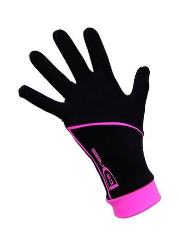 Термоперчатки  (черный+ярко-розовый)